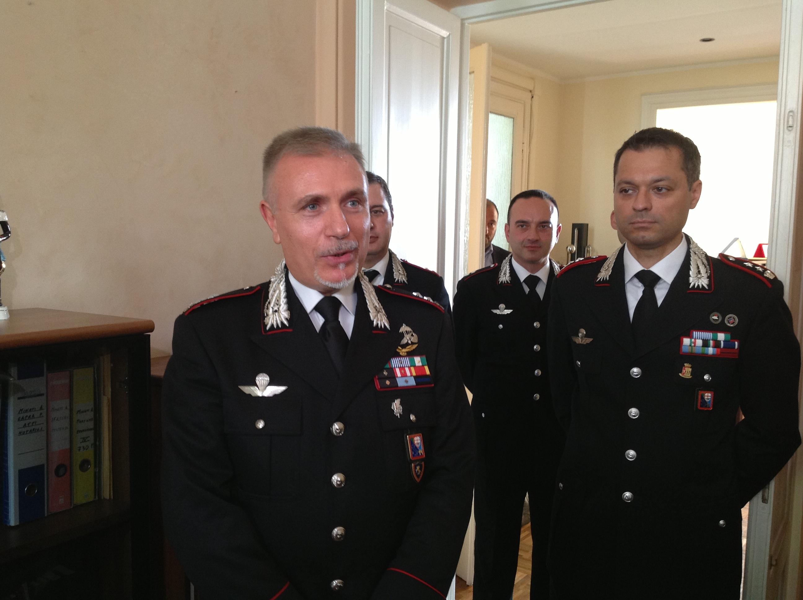 A sinistra il colonnello Zarbano e destra il Maggiore Cambieri