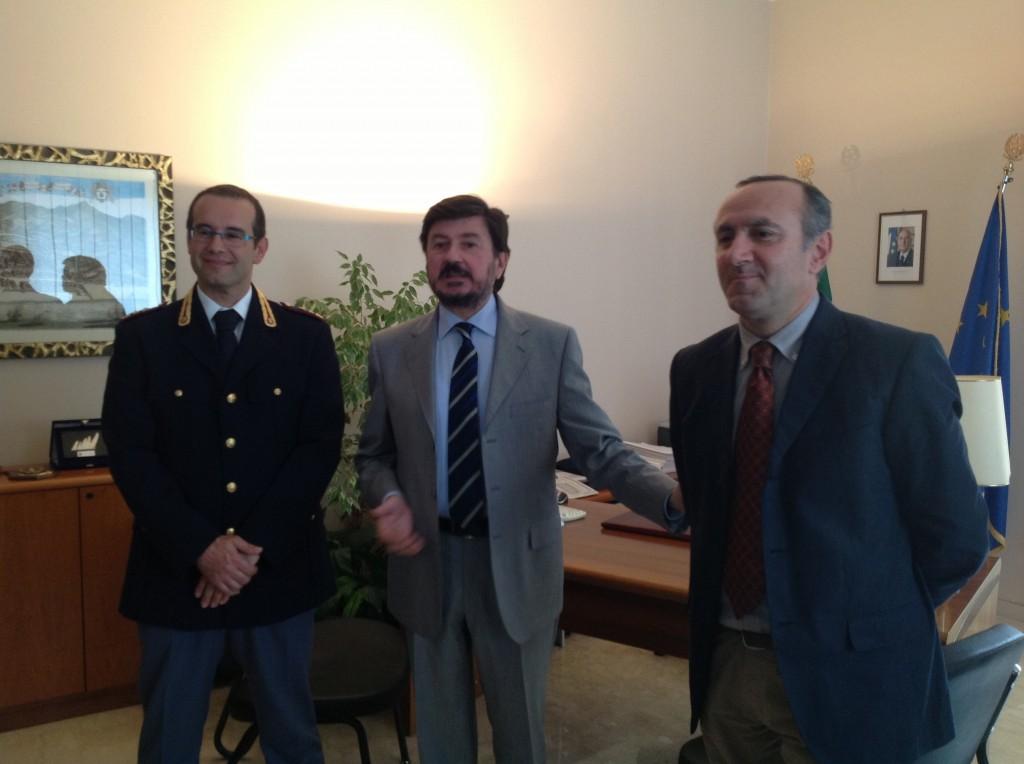 Da sinistra: Saverio Arricó, Pasquale Zazzaro e Giuseppe Maggese