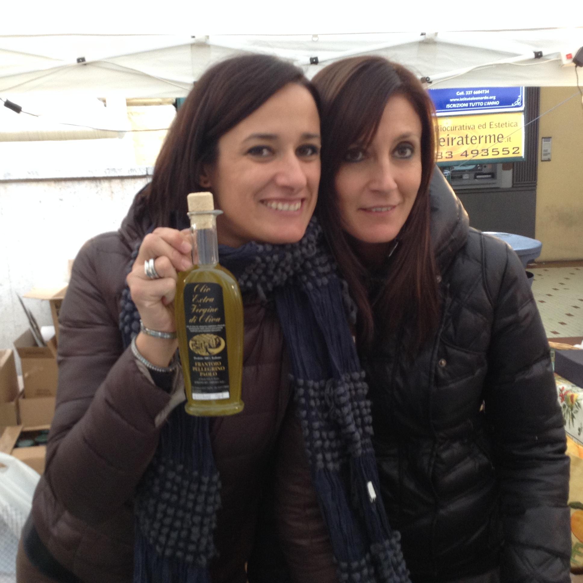 Monica e Erica del Frantoio Paolo Pellegrino di Borgomaro
