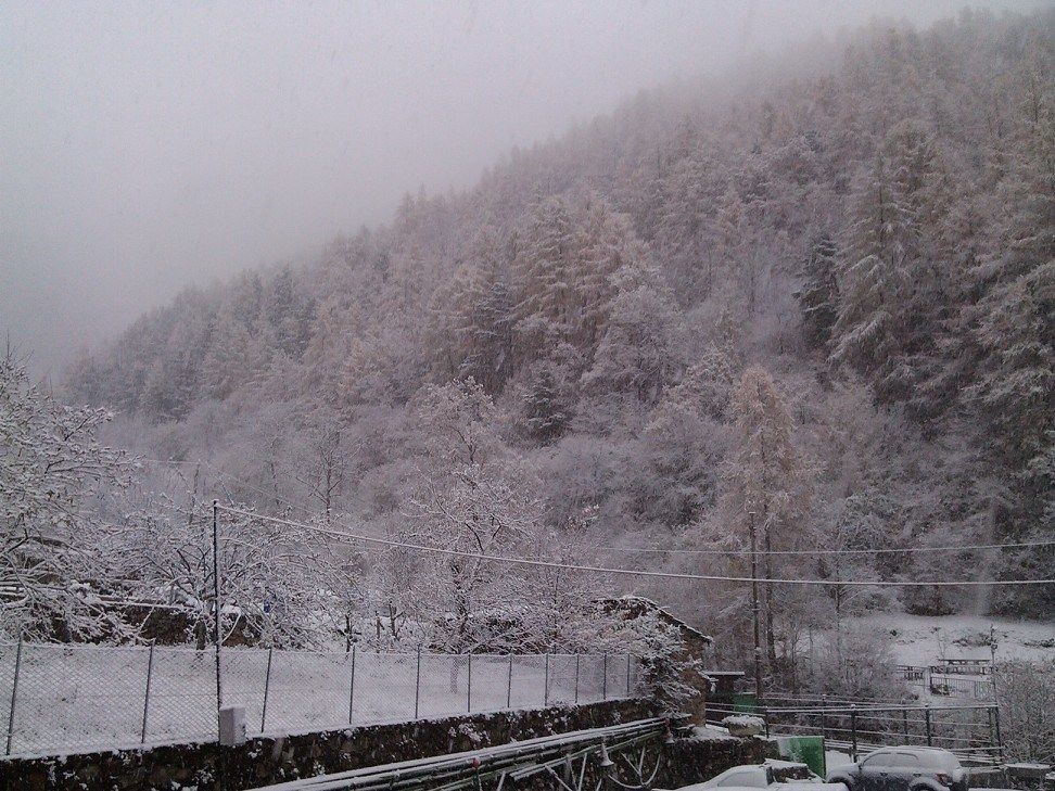 Prima nevicata di Verdeggia