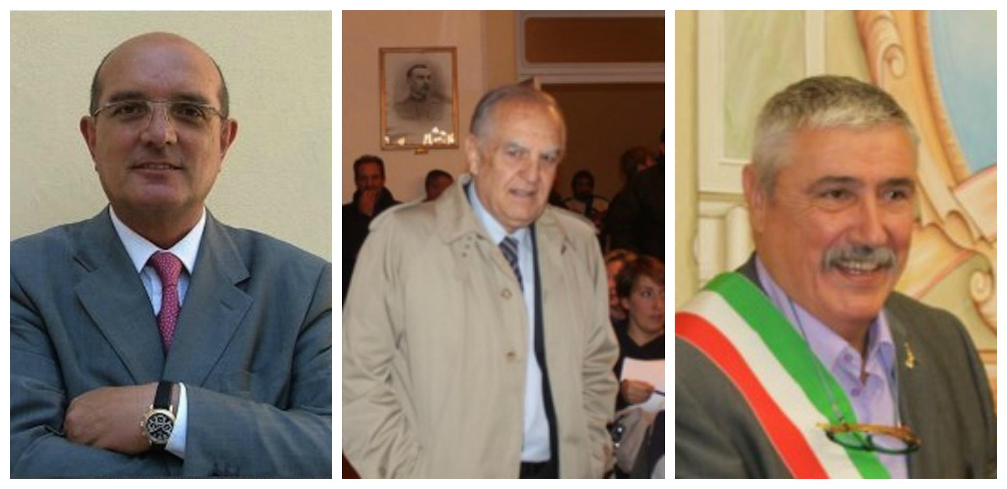 Da sinista: Amercio Pilati, Enzo Amabile e Giacomo Chiappori