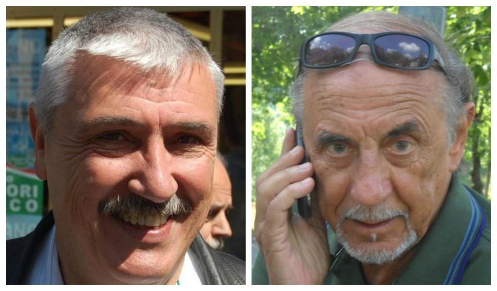 Da sinistra: il sindaco Giacomo Chiappori e l'ex sindaco Angelo Basso