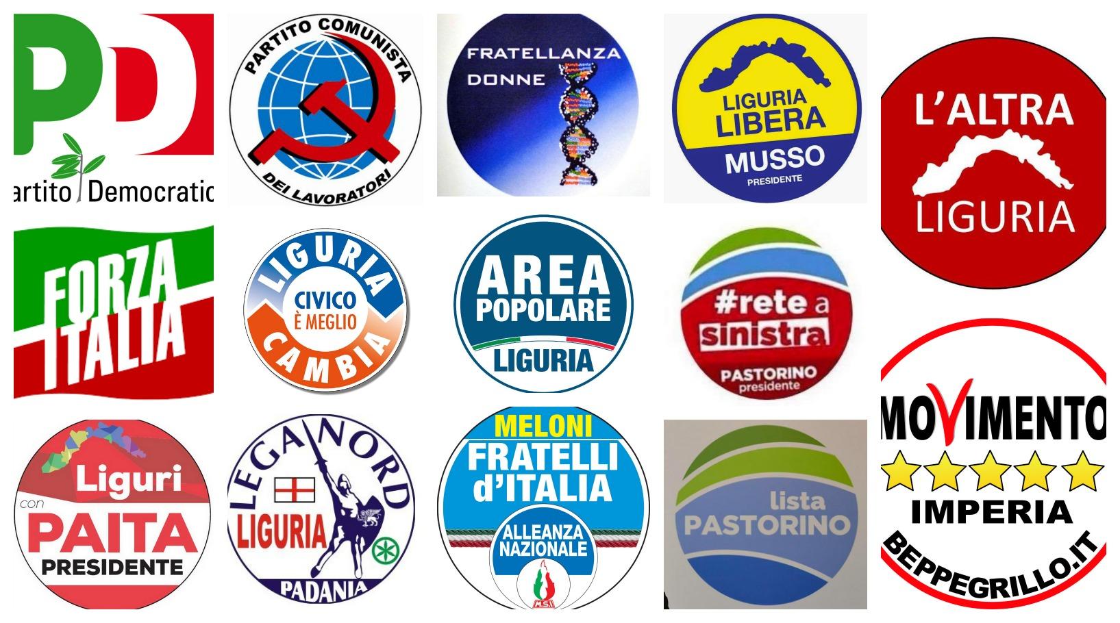 Regionali 2015 ecco l 39 elenco completo di tutti i partiti for Elenco politici italiani