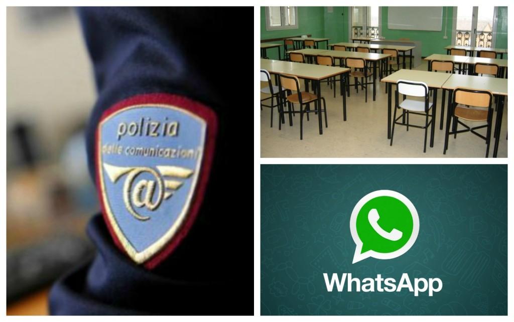 polizia postale scuola whatsapp