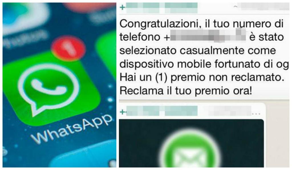 whatsapp collage truffa