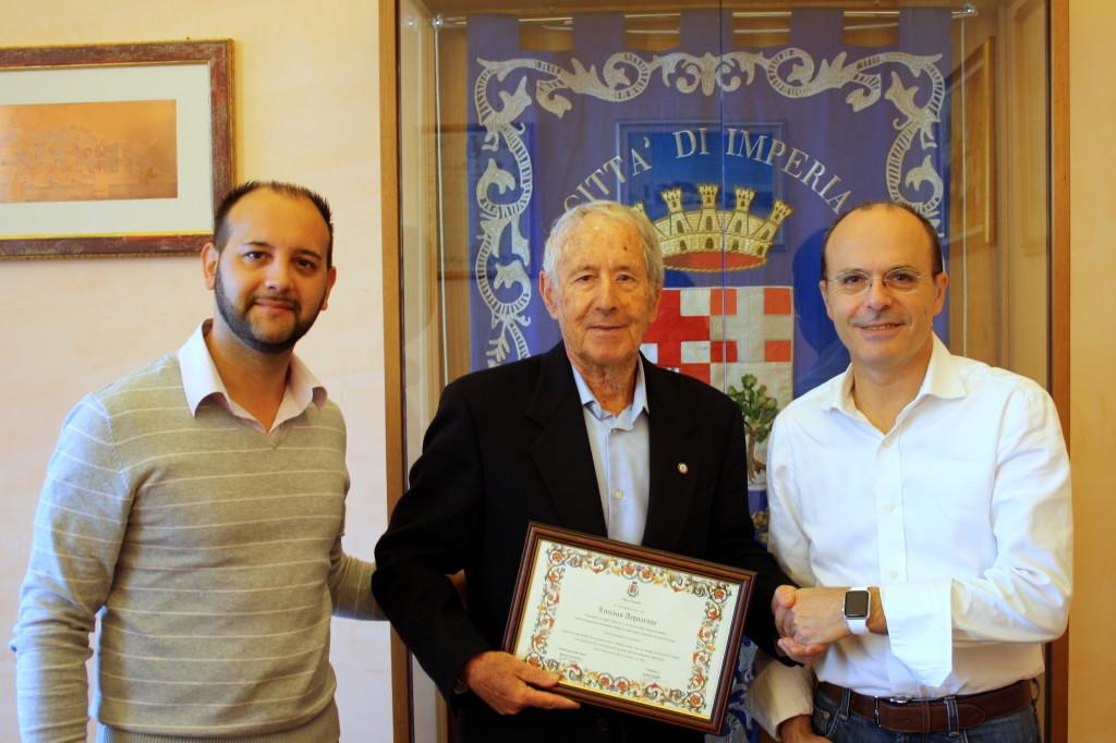 Da sinistra Simone Vassallo, Luciano Acquarone, Carlo Capacci