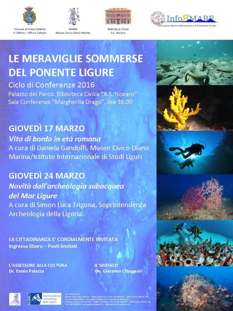 LOCANDINA A3 Le meraviglie sommerse del Ponente Ligure