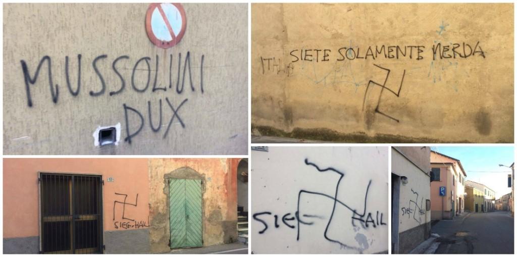Imperia raid vandalico a caramagna sui muri spuntano scritte nazifasciste svastiche e insulti - Scritte sui muri di casa ...