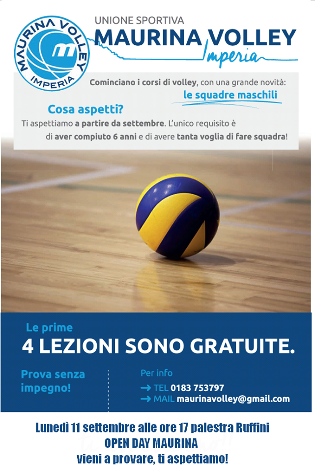 Open Day Maurina Volley