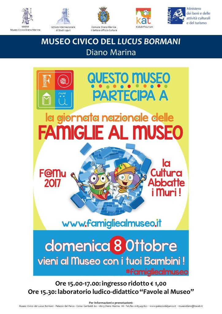 Locandina Museo Civico Diano Marina FAMU 8 ottobre 2017