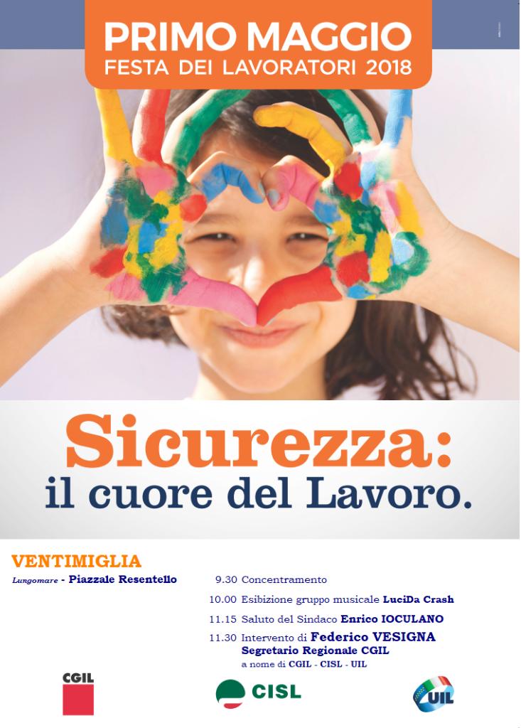 Manifesto 1° Maggio 2018 Ventimiglia Bozza