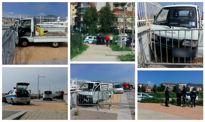 go-imperia-furgone-bravata-minorenni-polizia-municipale