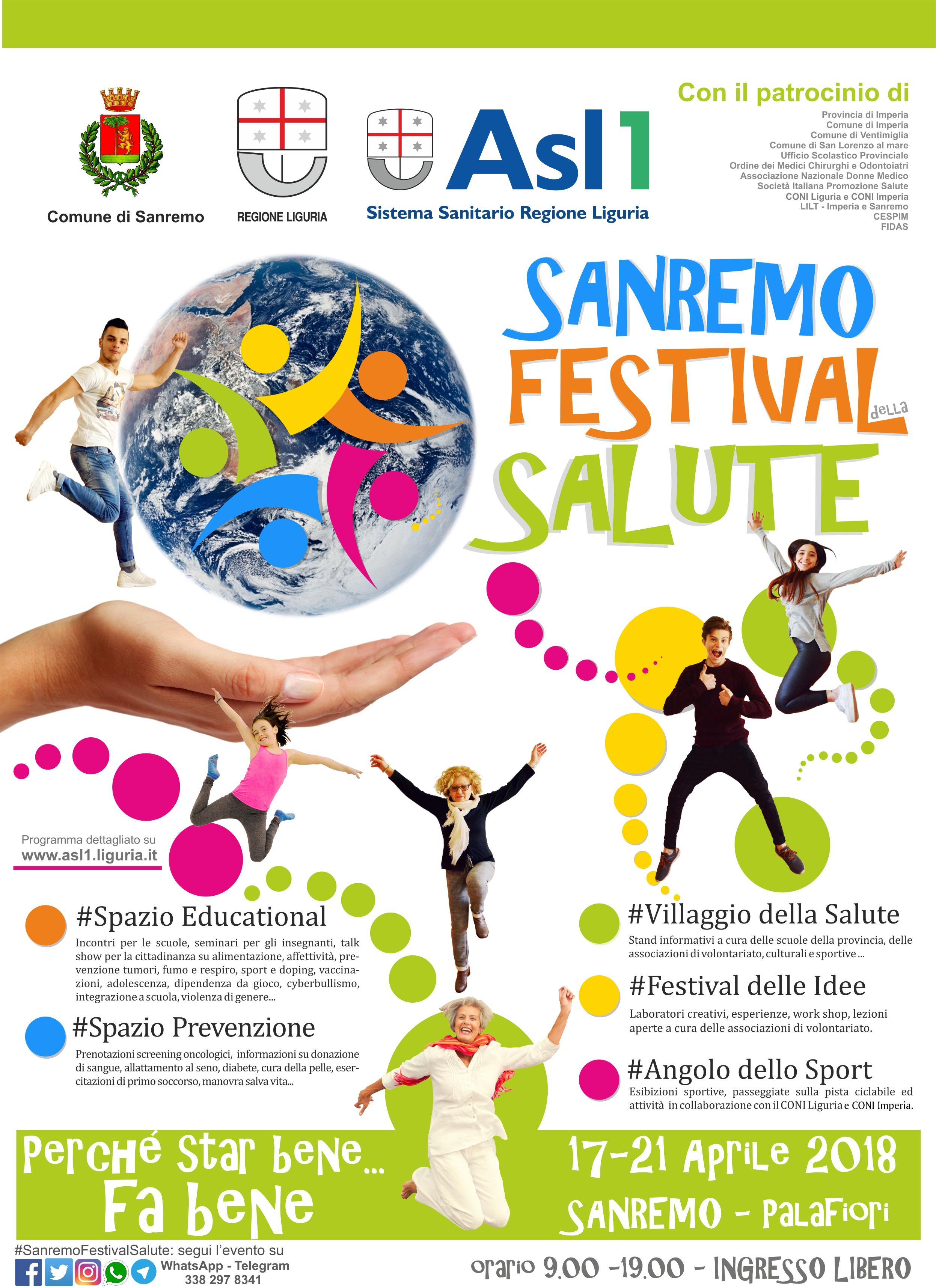Sanremo Festival Della Salute Al Palafiori Il 3 Appuntamento Di Promozione Del Benessere