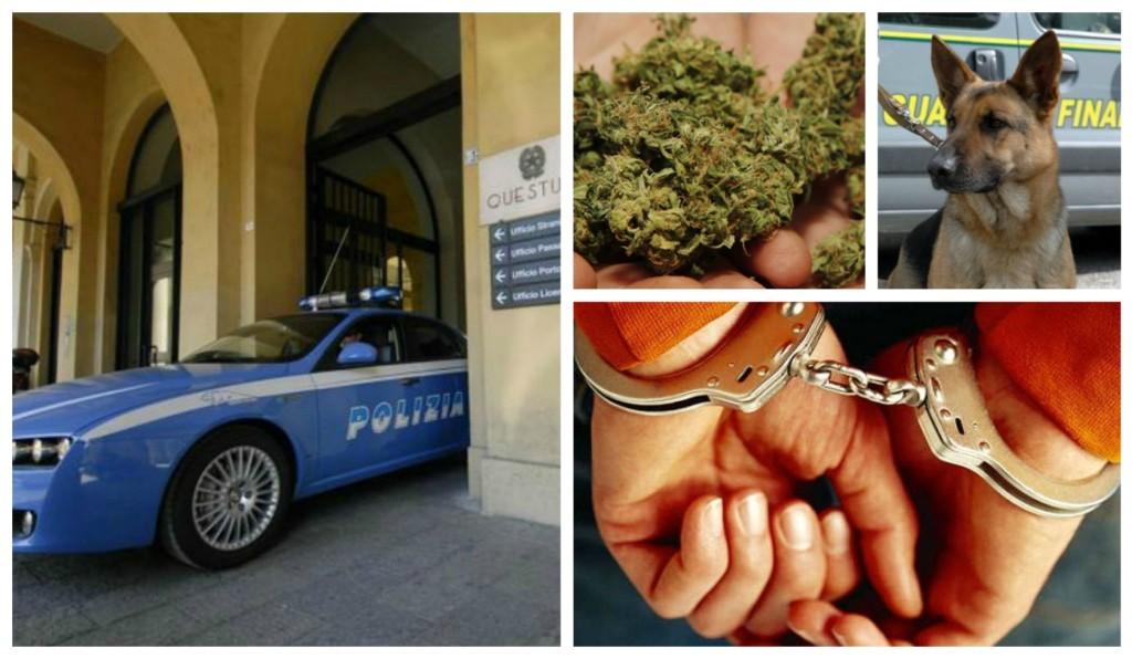 polizia-arresto-cane-droga-marijuana-riva-ligure-pregiudicato-Domenico-Ciurleo