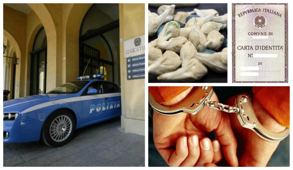 polizia-eroina-documento-falso-arresto
