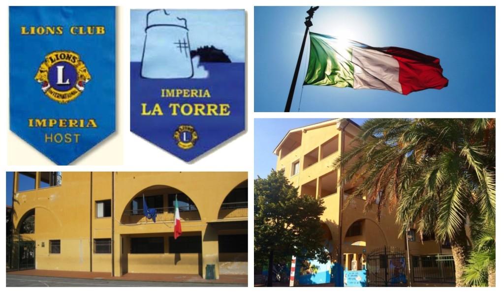 lions-donazione-bandiera-scuola-largoghiglia-oneglia-bandiera-italiana