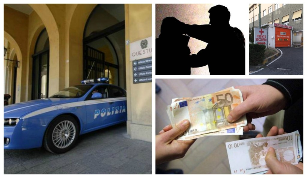 aggressione denuncia polizia imperia estorsione (1)