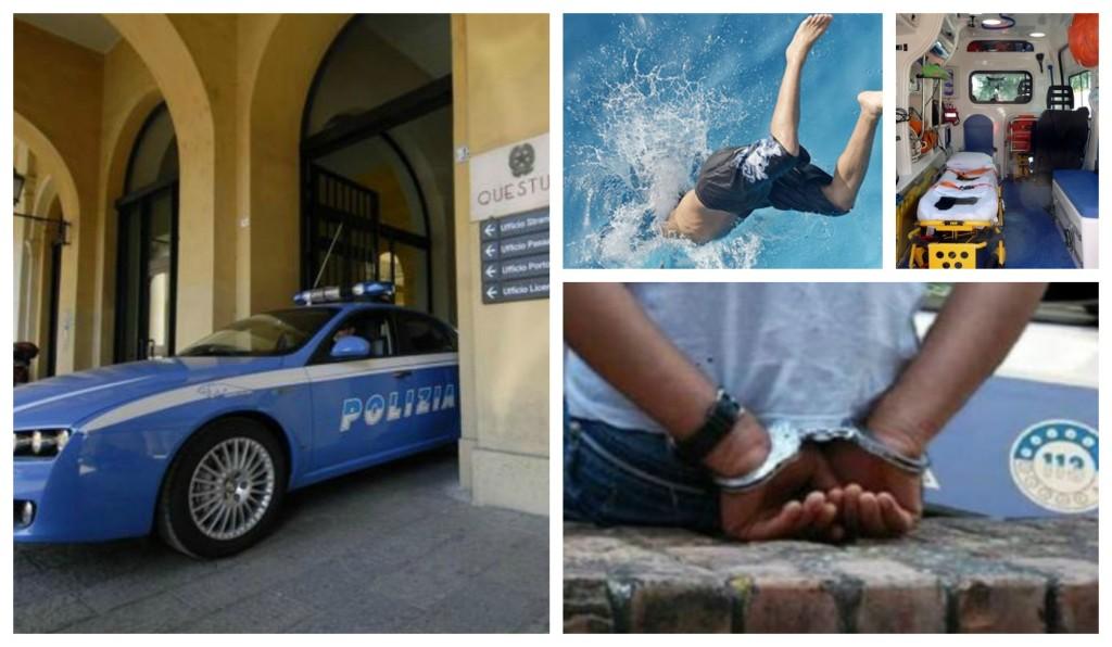 arresto tuffo in mare polizia