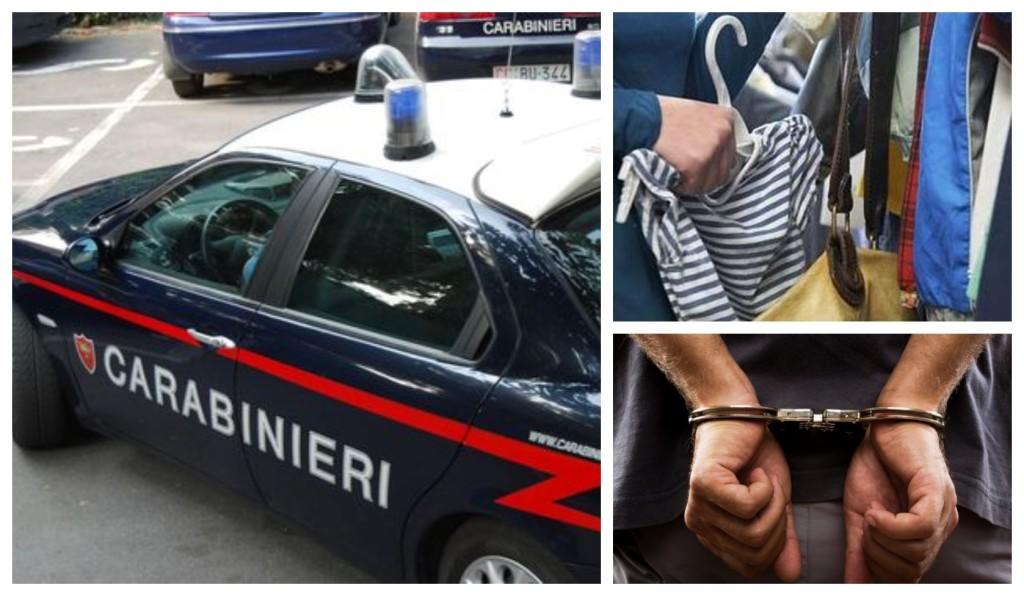 carabinieri arresto furto vestiti