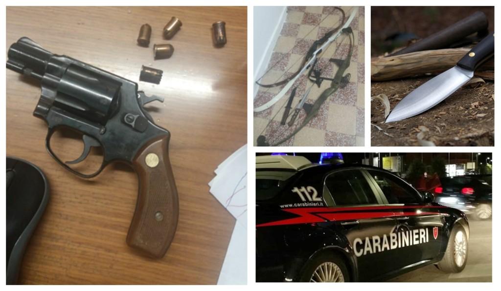 carabinieri denuncia arco frecce minacce