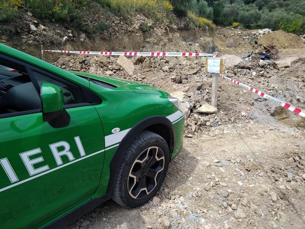 carabinieri forestali sequestro diano san pietro