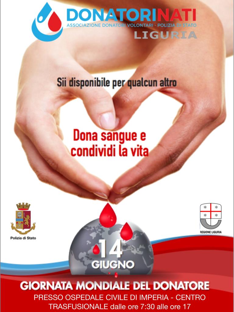 giornata mondiale donazione sangue ospedale imperia