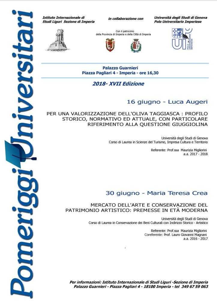 locandina 2018 (pomeriggi universitari)