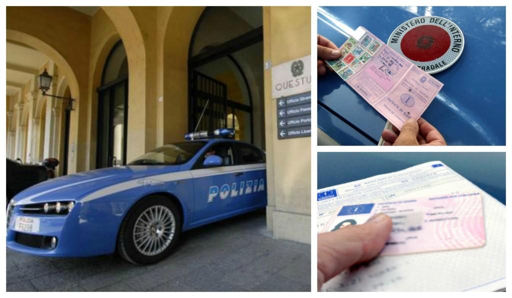 polizia patente denuncia guida