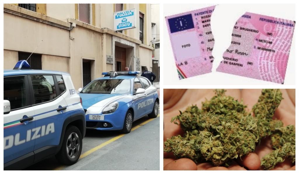 polizia spaccio denuncia patente