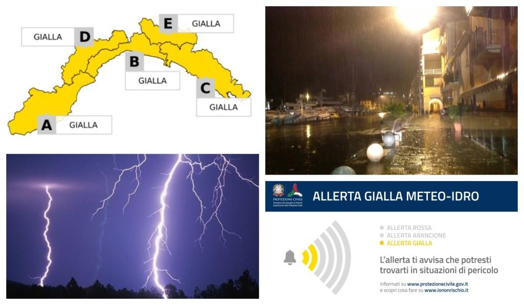 allerta gialla temporali 11 luglio