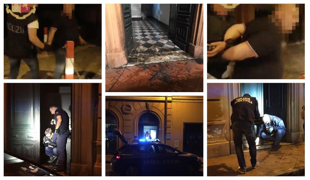 attentato incendiario via belgrano imperia arresto video