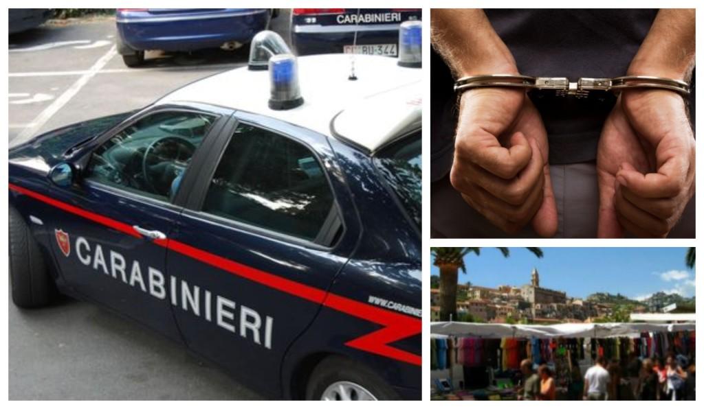 carabinieri arresto mercato sequestro