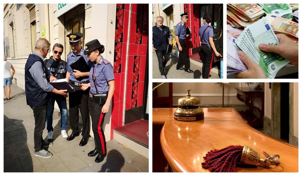 carabinieri multa lavoro nero alberghi