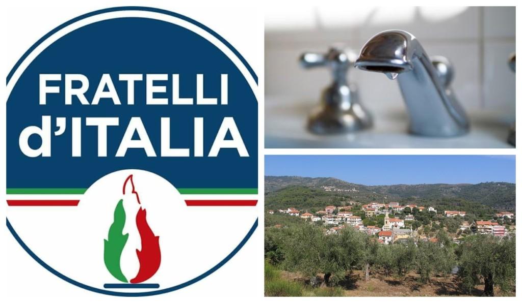 emergenza acqua fratelli d'italia golfo dianese