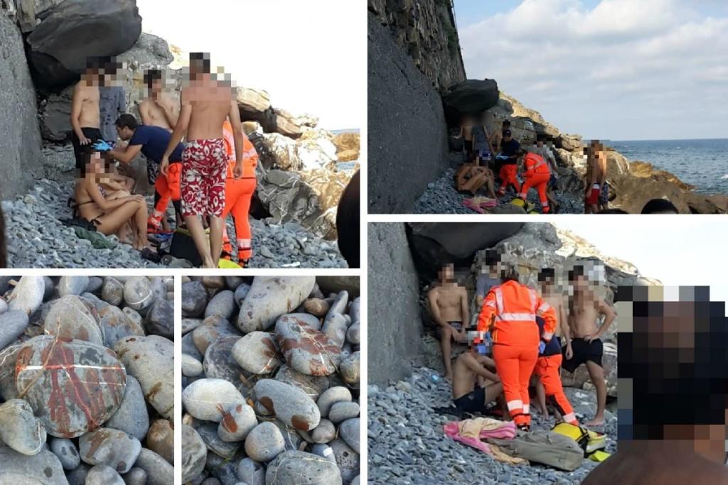 incidente in spiaggia