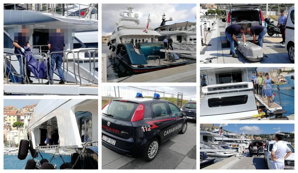 yacht cadavere 4 luglio carro funebre