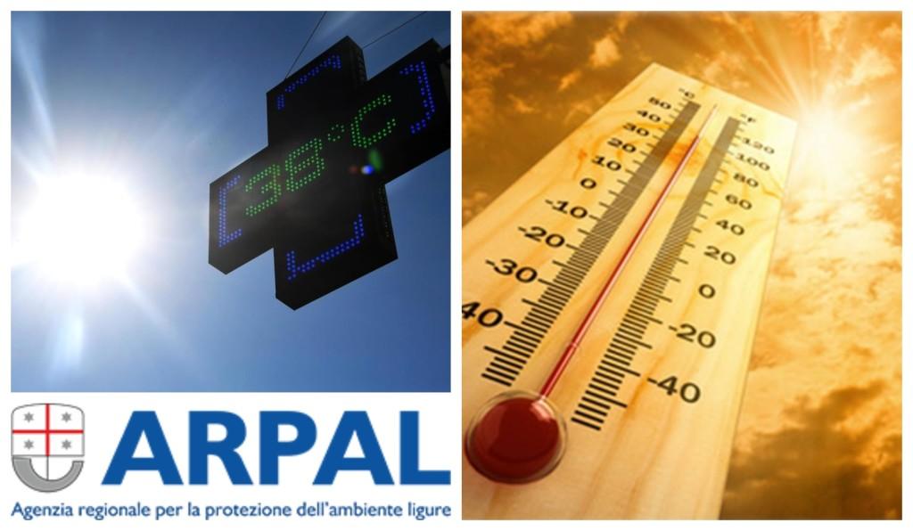 arpal caldo avviso meteorologico 6 agosto