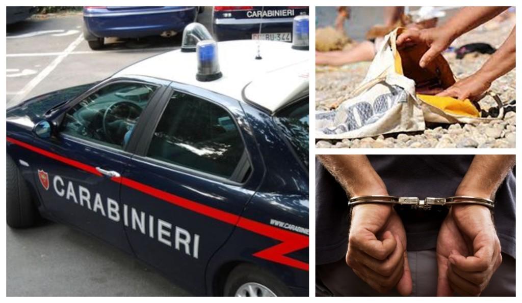 arresto carabinieri furto spiaggia ventimiglia