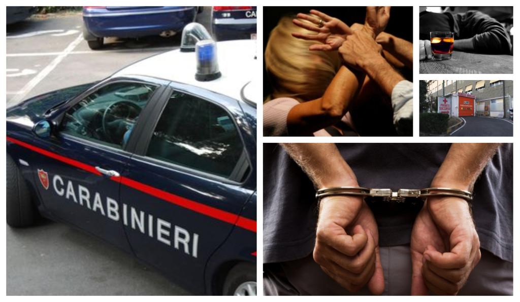 carabinieri arresto donna gravida violenza