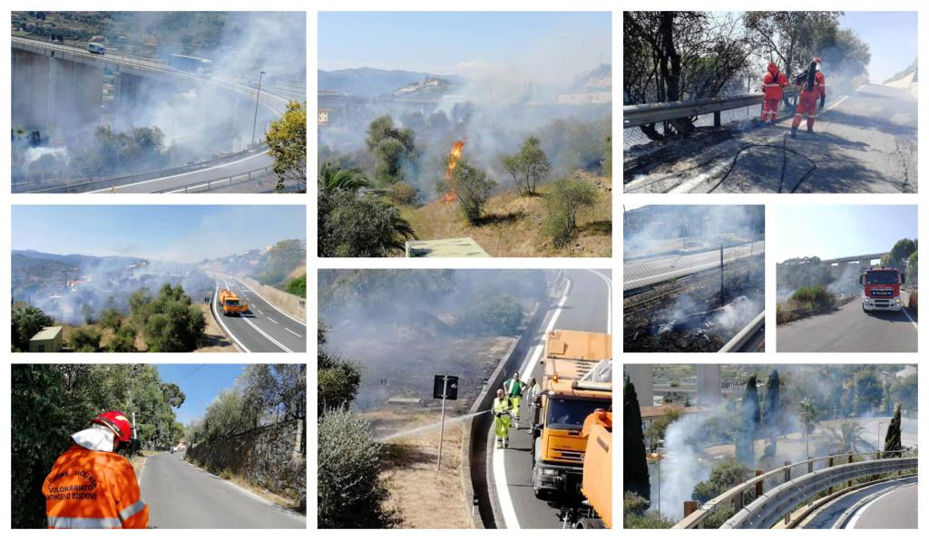 incendio porto maurizio svincolo autostrada (1)