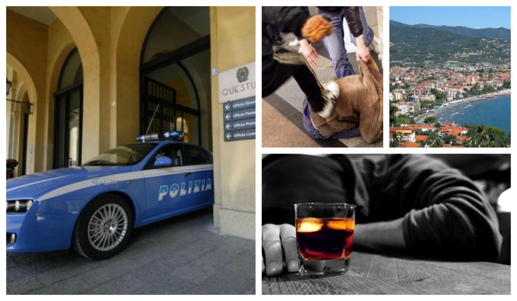 polizia ubriachi diano marina aggressione turisti