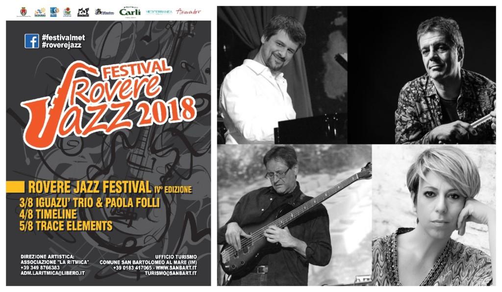 rovere jazz festival venerdì 3 agosto san bartolomeo al mare