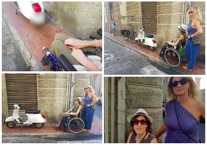 disabilità-sedia-a-rotelle-barriere-architettoniche-marciapiede-imperia-oneglia
