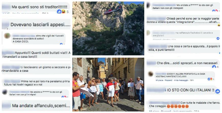 migranti-immigrazione-insulti-commenti-facebook-imperia-flash-bob-ventimiglia