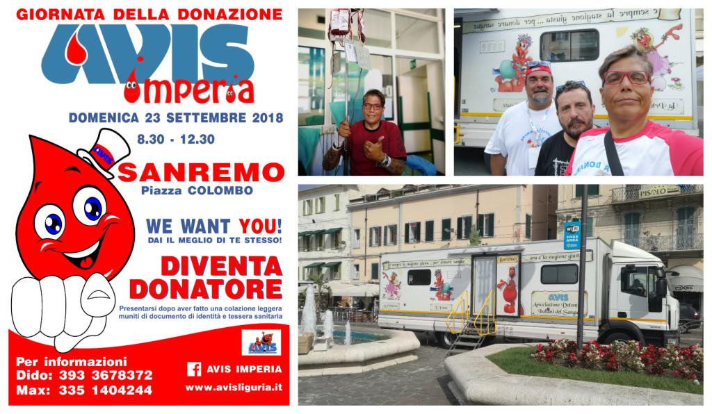 avis sanremo donazione sangue piazza colombo