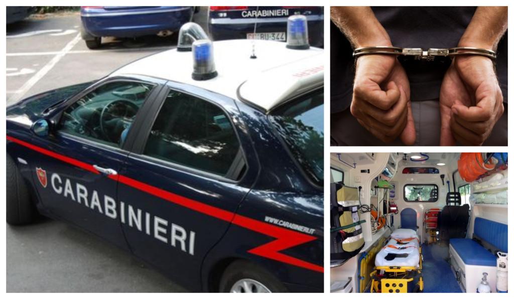 carabinieri arresto pronto soccorso ubriaco