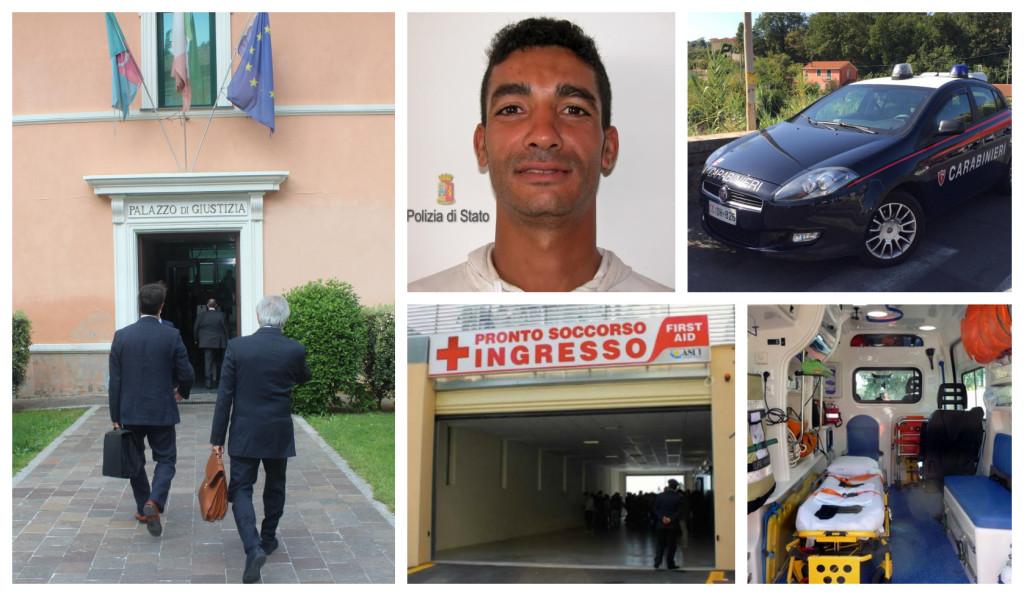 carabinieri morto tribunale ps sanremo