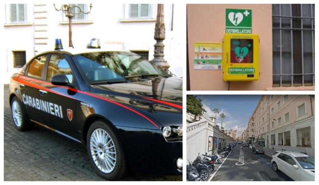 carabinieri sanremo defibrillatore corso imperatrice