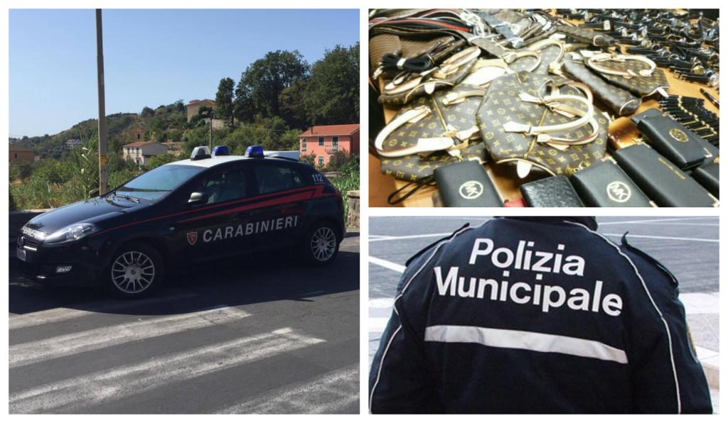 carabinieri sequestro merce contraffatta polizia