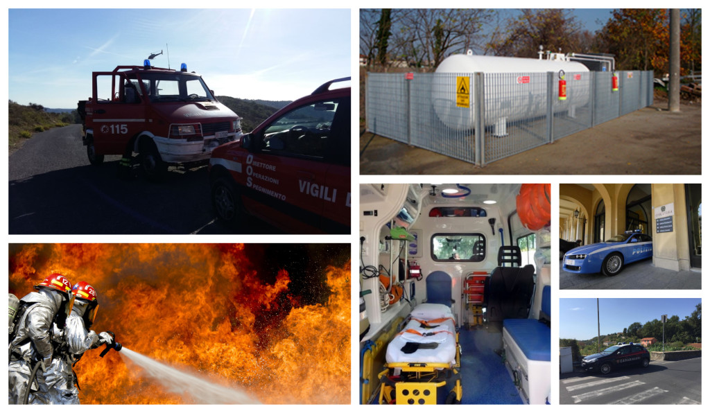 esrecitazione taggia incendio deposito gas